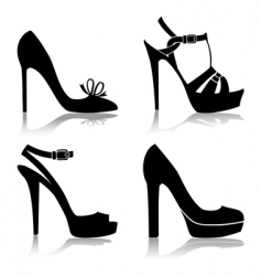 shoes collection vector image