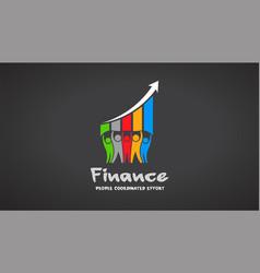 team of five financial people logo vector image