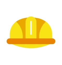 Yellow construction helmet safety industry vector image