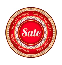 Big red sale label vector image vector image