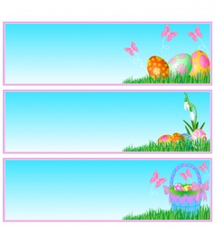 Easter eggs banners vector image