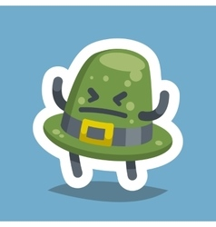 Emoticon Icon Angry Hat vector image