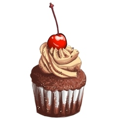 Hand drawn cup cake vector image