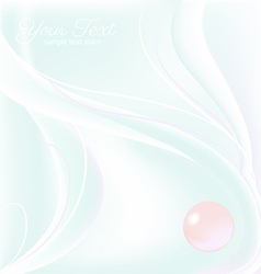 Pearl card vector image vector image