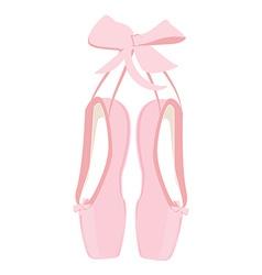 Pink ballet pointe vector