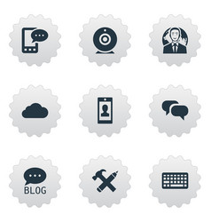 set of simple user icons vector image vector image