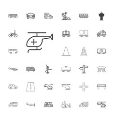 33 traffic icons vector