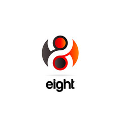 abstract eight logo symbol icon vector image