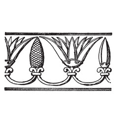 Assyrian ornament is a repeating band motive vector