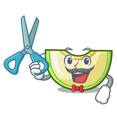 barber slice of melon isolated on cartoon vector image