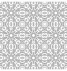 Black and white seamless pattern Decorative vector image