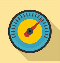 blue yellow dashboard icon flat style vector image