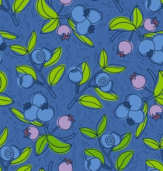 Blueberry and bilberry pattern vector image