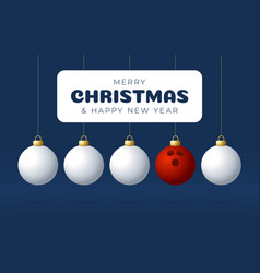 bowling merry christmas and happy new year sport vector image