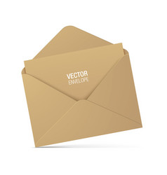 brown kraft envelope isolated on background vector image