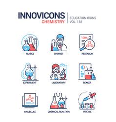 Chemistry - modern line design style icons set vector