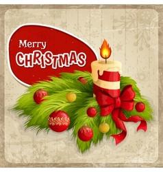 Christmas retro poster vector