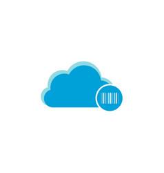 cloud computing icon barcode icon vector image