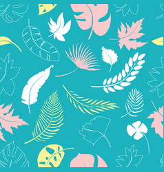 collage contemporary floral seamless pattern vector image