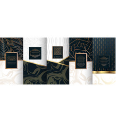collection design elementslabelsiconframes vector image