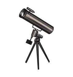Color sketch telescope vector