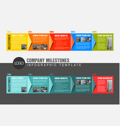 Colorful infographic timeline report templates vector
