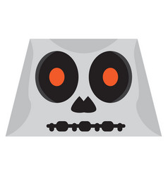 cute halloween cartoon skeleton avatar vector image