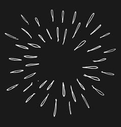 Doodle design element starburst firework vector