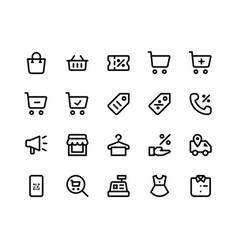 E commerce line icons vector