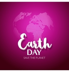 Earth Day Earth World map globe sign Hand drawn vector image