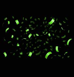 falling shiny golden confetti vector image