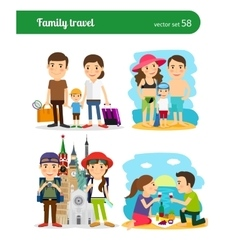 Family travel people vector image