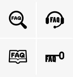faq symbols vector image