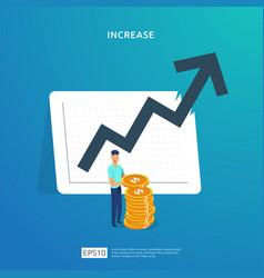 Finance performance return on investment roi vector
