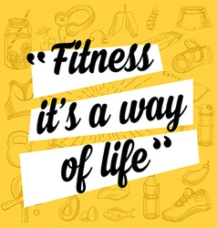 Fitness motivation quote poster vector image