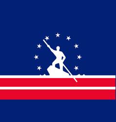 flag of richmond in virginia usa vector image