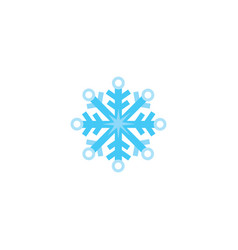 flat cartoon snowflake winter christmas symbol vector image