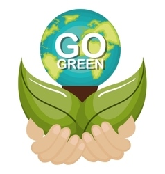 Go green ecology poster vector