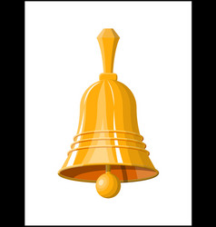 gold school bell retro christmas handlebell vector image