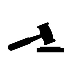 hammer judge icon vector image