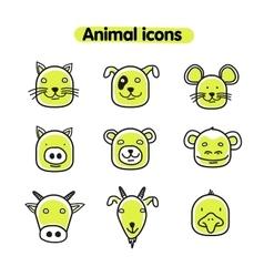 Hand drawn animal - icons vector