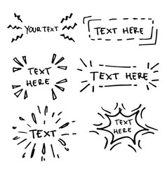 Hand drawn collection design elements vector