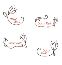 Hand drawn flower frames vector
