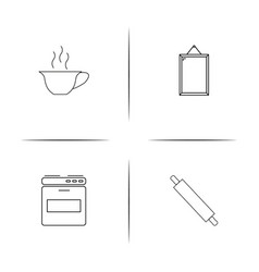 Home appliances and equipment simple linear icon vector