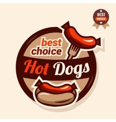 Hot dog logo vector
