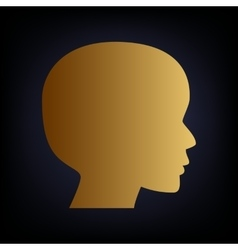 Human head sign vector image