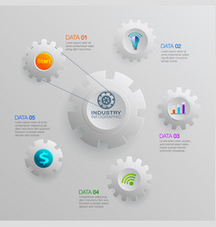 infographic business industry vector image