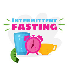 Intermittent fasting losing weight vector