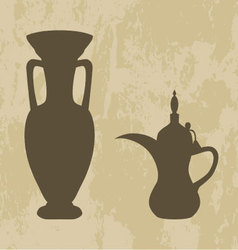 jug and coffee pot Arabic vector image