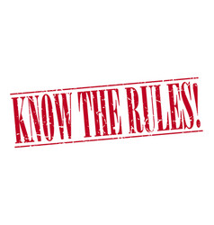 know the rules vector image